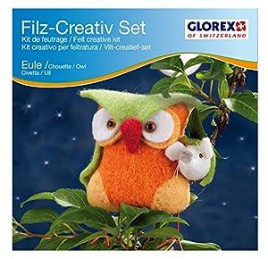 Glorex GmbH Set Creativo de Fieltro, Búho Naranja, 11 x 13