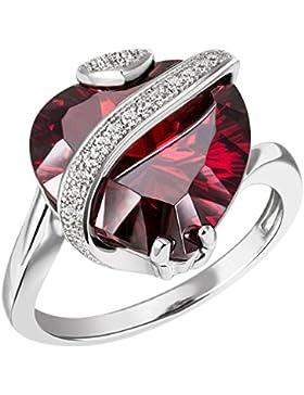 Goldmaid Damen-Ring 925 Sterlingsilber granatfarbener Zirkonia