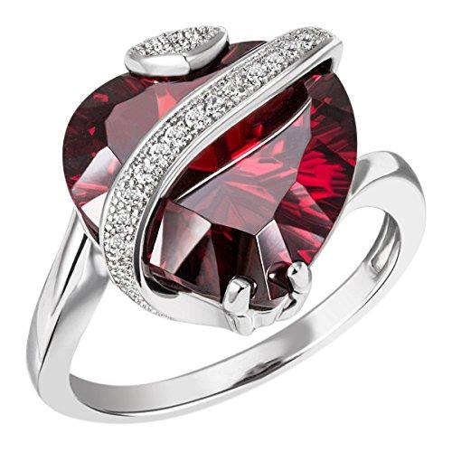 Goldmaid Damen-Ring Silber 925, Rubinrot Grösse 60