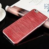 """HuaYang Fashion Conception brossé ABS Plastique coque de protection étui pour iPhone 6 4.7""""(Rouge)"""