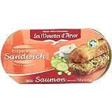 Les Mouettes d'Arvor Préparation Sandwich au Saumon 2x76 g - Lot de 3
