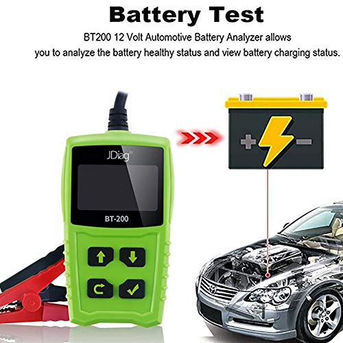 Eillybird Batterietester für JDiag FasCheck BT200,12 V Autobatterietester Auto Anlass Und Ladesystem Test Scan Tool Batterieanalysator Diagnosewerkzeug für CCA MCA JIS DIN IEC EN SAE GB - Multi Battery Isolator