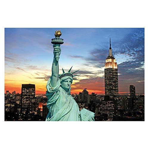 Tapete selbstklebend - New York at Night - Fototapete Querformat 225 x 336 cm -