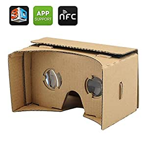 OEM Google 3D Cardboard Glasses VR - Mobile Phone Virtual Reality 3D Glasses, NFC, For iPhone + Android Phones