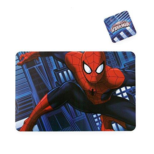 Tovaglietta all'americana Spiderman Jump Marvel con sottobicchiere P908