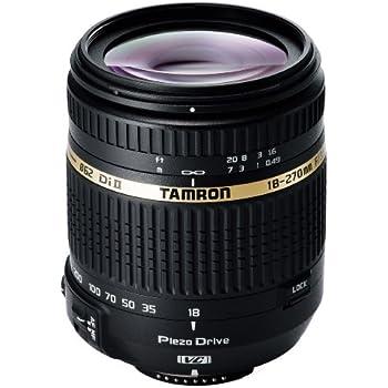 Tamron 18-270 mm Di II VC PZD - Objetivo para Nikon (18-270 mm, f/3.5-6,3, estabilizador óptico, macro, 62 mm), color negro