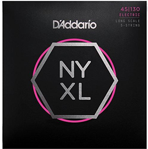 Addario D'NYXL45130 Nickel Wound basso (5-corde, Regular Light, 45-130, Long Scale)