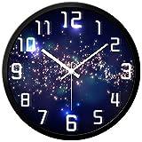 SX-ZZJ @Reloj de Pared Relojes de Pared Funciona con Pilas Sin Hacer tictac Hogar Creativo Decoración de la Sala de Estar Dormitorio silencioso Reloj de Cuarzo Reloj de Pared analógico
