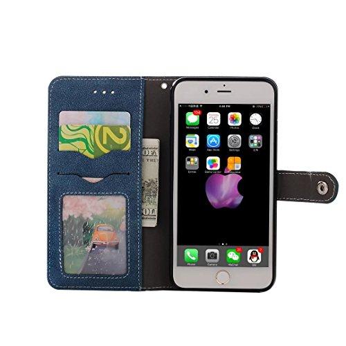 Coque iPhone 7,Coque iPhone 7 Plus, Coque iPhone 6/6S, Coque iPhone 6Plus/6S Plus, Coque iPhone Case cover, [Porte-cartes] étui Protection en Cuir Portefeuille multi-Usage Housse Rabattable(ARD-09) E