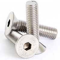 Bolt Base 6mm A2 Stainless Steel Countersunk Csk Hex Head Socket Screw Allen Bolts M6 X 25 - 20
