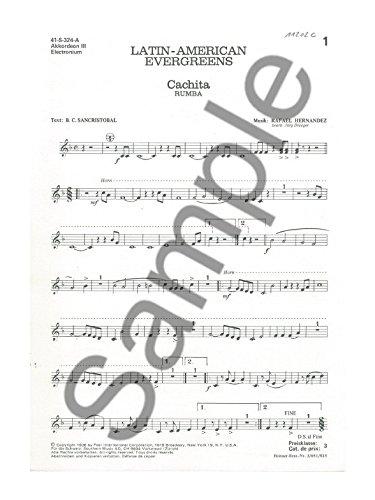 Südamerikanischen Evergreens: Akkordeon 3Teil–Sheet Music
