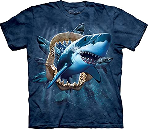 The Mountain - - Jugend Shark Attack T-Shirt, X-Large, Multi