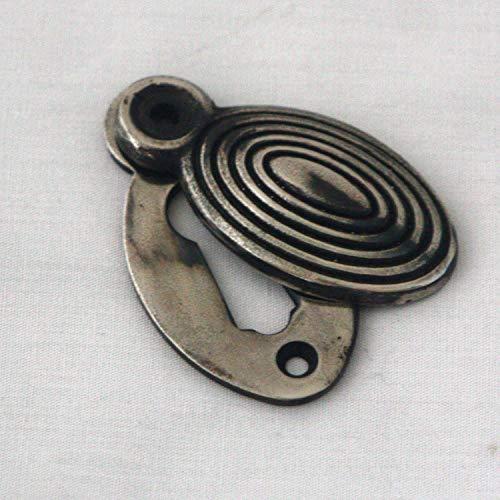 Antigüedad Níquel Oval Colmena Bocallave