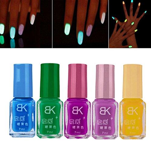 �ßigkeit Fluoreszierende Neon Leucht Gel Nagellack für Leuchten in Dunklen Nagellack (A) (Kinder-kunst-speicher)