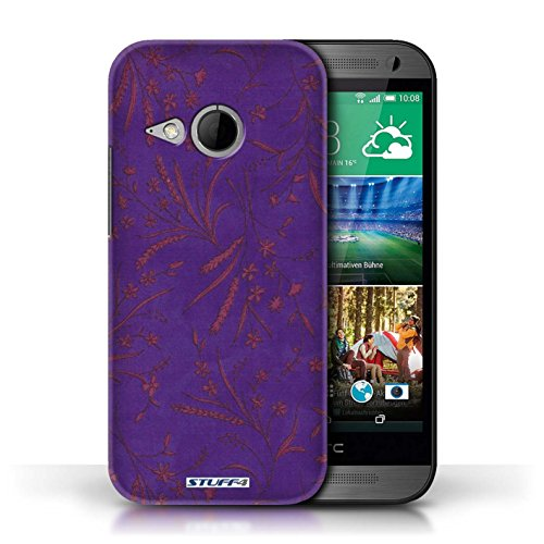 printed-hard-back-case-for-htc-one-1-mini-2-wheat-floral-pattern-collection-purple-pink