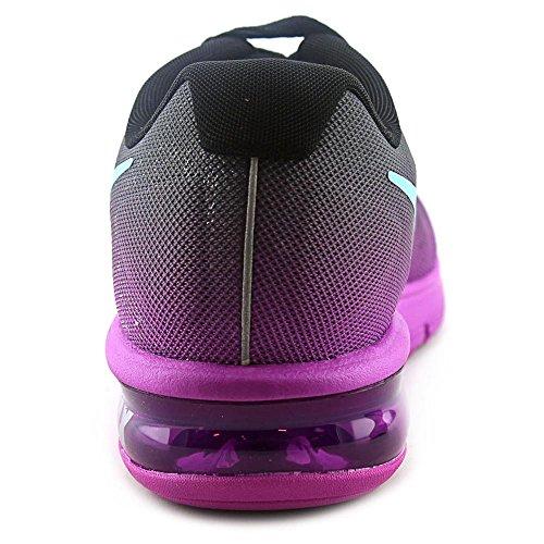 Nike Wmns Air Max Sequent, Chaussures de Running Femme Noir - Negro (Black / Gmm Bl-Hypr Vlt-Drk Gry)