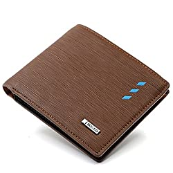 Bogesi Artificial Leather Wallet for Mens -Brown Cross