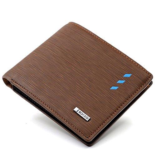 Bogesi Artificial Leather Wallet for Men's  Brown Cross