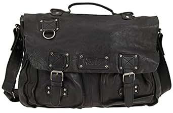 Black Leather Satchel Bag by Norton
