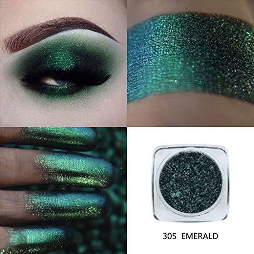 Gaddrt PHOERA Glitter Powder Shimmering Colors Lidschatten Augenschminke aus Metall Lidschatten (E)