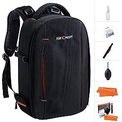 Camera DSLR Backpack,K&F Concept Waterproof Camera dslr Rucksack with tripod holder Bag for Canon Nikon Sony and 12'' Laptop for Men/Women-Black