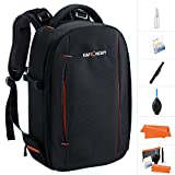 Camera DSLR Backpack,K&F Concept Waterproof Camera dslr Rucksack with tripod holder Bag for Canon Nikon Sony and 12'' Laptop for Men/Women-Black