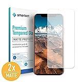 smartect Mattes Panzerglas kompatibel mit iPhone XS/X [2X MATT] - Displayschutz mit 9H Härte - Blasenfreie Schutzfolie - Anti Fingerprint Panzerglasfolie