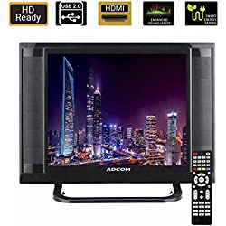 Adcom 38.1 CM (15 Inch) 1512 Ready LED TV with Smart Saving (Black)