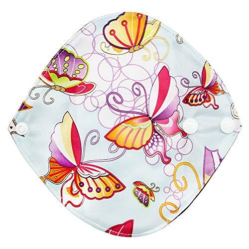 YA-Uzeun 1 Stück Menstruations-Slipeinlage, Damenhygiene, Damenbinde, wiederverwendbar, aus Bambusstoff, für die Menstruation, Waschbare Pads