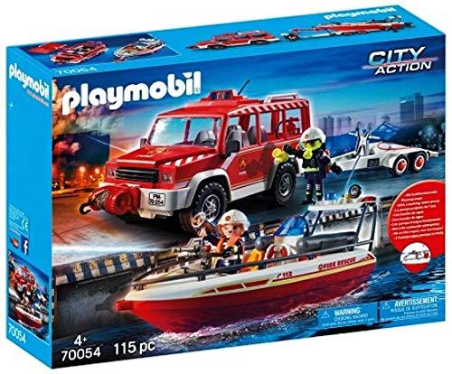 Playmobil 70054 - Juego de Bomberos con Borrador