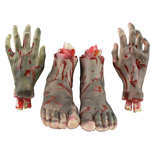 ween Schrecklich Blutig Fake gebrochene Hände Füße ()