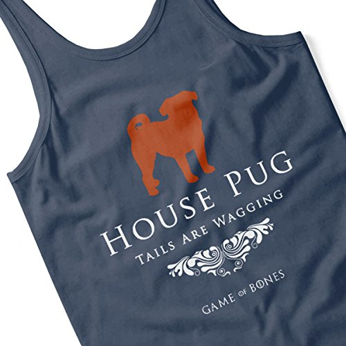 House Pug Tails Are Wagging Game Of Bones Women's Vest Navy blue