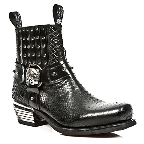 New Rock M.7959-S2 Herren Dallas Leder Schwarz Schuhe BLACK, BLACK