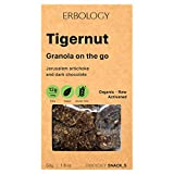 Erbology Bio Granola (6 x 50g Packung) mit Tigernüssen, Topinambur und Dunkle Schokolade - Roh - Vegan - Gluten-frei - Gekeimt (Aktiviert) - Inulin