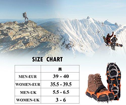 19 Dientes de Acero Inoxidable de Crampones Antideslizante Raquetas de Nieve,al Aire Libre de Esqui de Senderismo en… 4
