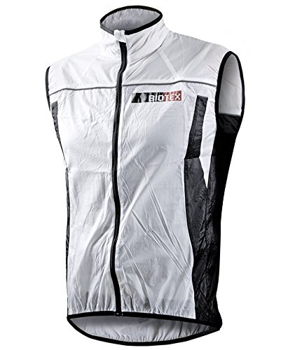 BIOTEX Windbiotex, Gilet Antivento Uomo, 01 Bianco, XL