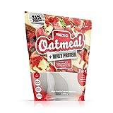 Prozis Oatmeal with Whey Protein 1000g, Farina D'Avena, Cereali Ricchi di Carboidrati di Alta Qualità e Fibre Sazianti, al Gusto Cheesecake alla Fragola