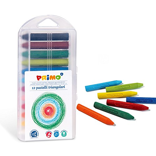 Kredki woskowe Primo Jumbo trójkatne 12 kolorów