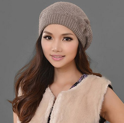 Chapeau Femme Hiver Gardez Chaud Tricot Moyen Âge Fashion Thick Tab ( couleur : # 2 ) 1#
