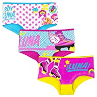 3 X Official Disney Soy Luna 3 PACK Girl's Cotton Knickers Boxers Underwear - 11/12 Years