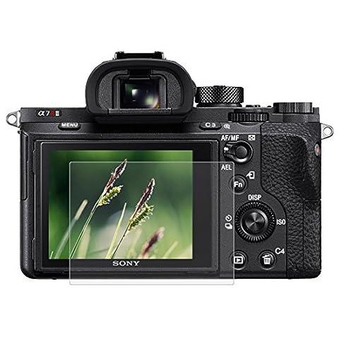 Puluz Camera 2.5d incurvé 9H Dureté de la surface protection d'écran en verre trempé pour Sony RX100/A7m2/A7R/A7r2