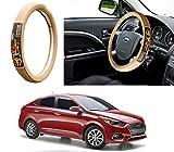 #4: Autopearl - Adinox Premium Quality Ring Type Car Steering Wheel Cover (Chromium Om Namah Shivay Beige) For - Hyundai Verna 2018