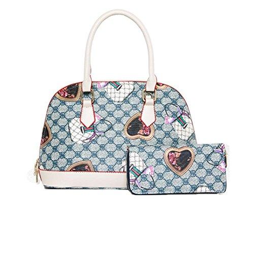 GBT Shell Tasche Mode Schulter Handtasche Dame Blue