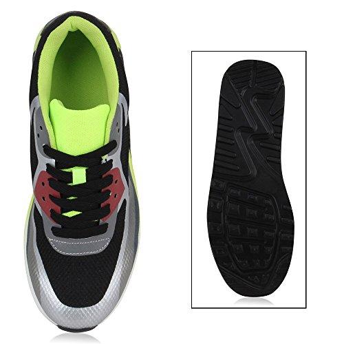 Herren Damen Sportschuhe Laufschuhe Runners Sneakers Prints Schwarz Neongrün Brooklyn