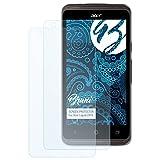 Bruni Schutzfolie für Acer Liquid Z410 Folie, glasklare Bildschirmschutzfolie (2X)