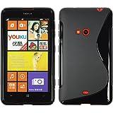 PhoneNatic Custodia Nokia Lumia 625 S-Style nero Cover Lumia 625 in silicone + pellicola protettiva
