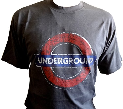 London Underground – Underground T-Shirt (Distressed) Gr. X-Large, Dunkelgrau