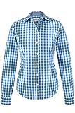 Almsach Damen Trachten-Bluse blau-weiß kariert 'Maria', blau, 38
