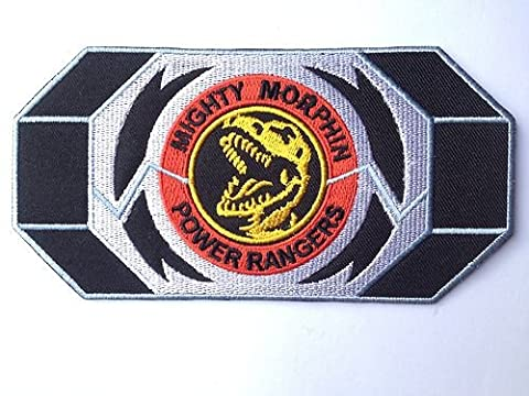 Mighty Morphin Power Rangers Rouge Morpher brodée Boucle de ceinture Iron on Patch/T-Rex Dinosaure Dino Thunder badge–Livraison Gratuite.