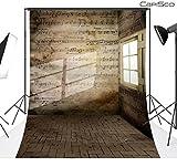 CapiSco Fotohintergrund Fotografie Stoffhintergrund Stoff Hintergrund Fotostudio Noten Wand 1,5 * 2,1m WD43